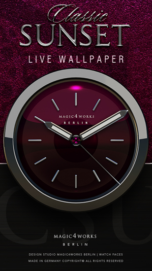 Download Designer Clock - livewallpaper for Android. Designer Clock apk - free download.