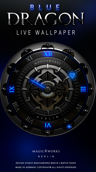 Screenshots of the Designer Clock for Android tablet, phone.