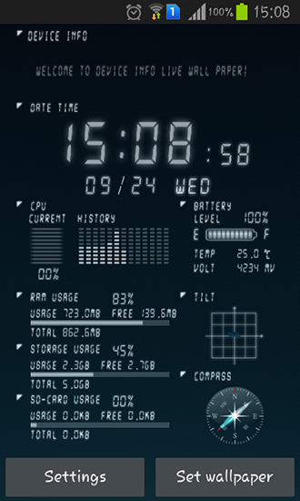 Device Info Live Wallpaper For Android Device Info Free Download