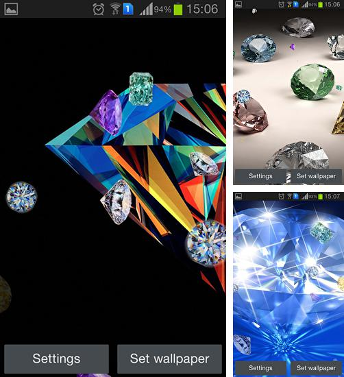 In addition to live wallpaper Valentine's Day: Fireworks for Android phones and tablets, you can also download Diamond by Happy live wallpapers for free.