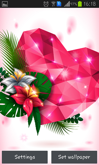 Download livewallpaper Diamond hearts for Android. Get full version of Android apk livewallpaper Diamond hearts for tablet and phone.