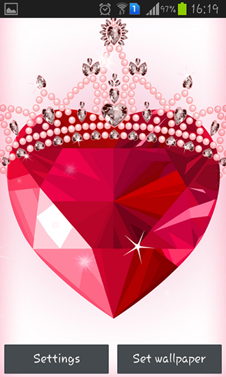 Screenshots of the Diamond hearts for Android tablet, phone.