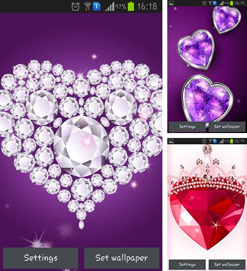 Download live wallpaper Diamond hearts for Android. Get full version of Android apk livewallpaper Diamond hearts for tablet and phone.