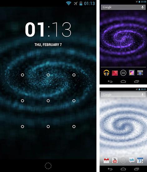 In addition to live wallpaper Ocean for Android phones and tablets, you can also download Digital galaxy for free.