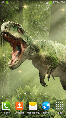 Écrans de Dinosaurs by Dream World HD Live Wallpapers pour tablette et téléphone Android.