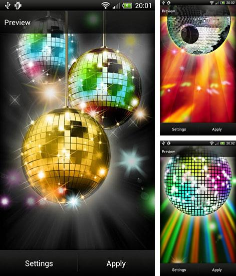In addition to live wallpaper Cute panda for Android phones and tablets, you can also download Disco Ball for free.