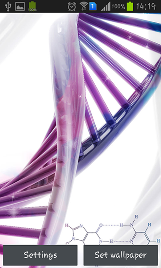 Download livewallpaper DNA for Android. Get full version of Android apk livewallpaper DNA for tablet and phone.