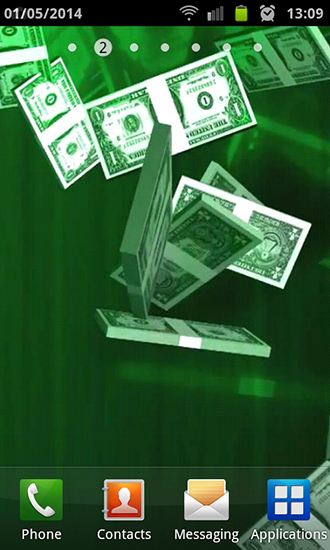 Screenshots of the Dollar rain for Android tablet, phone.