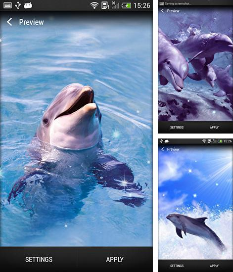 In addition to live wallpaper Rainbow clock for Android phones and tablets, you can also download Dolphin for free.