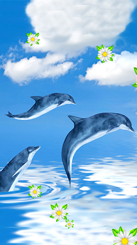 Téléchargement gratuit de Dolphins by Latest Live Wallpapers pour Android.
