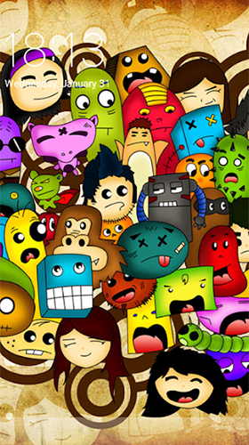Screenshots of the Doodle art for Android tablet, phone.