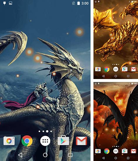 In addition to live wallpaper Sakura garden for Android phones and tablets, you can also download Dragons for free.