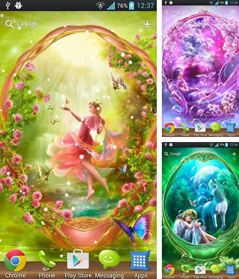 In addition to live wallpaper Nature parks for Android phones and tablets, you can also download Dream angels for free.