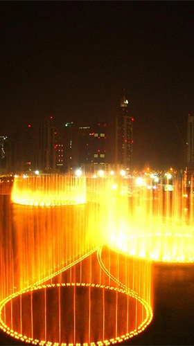 Screenshots of the Dubai fountain for Android tablet, phone.