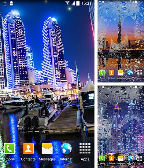 In addition to live wallpaper Diamonds by Pro Live Wallpapers for Android phones and tablets, you can also download Dubai night for free.