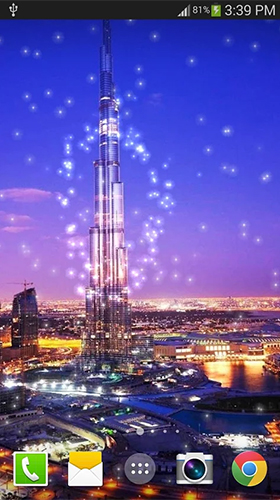 Dubai night by live wallpaper HongKong