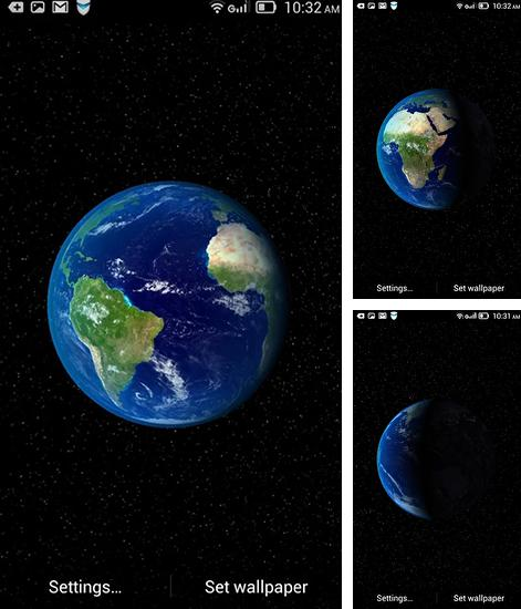 In addition to live wallpaper Gothic for Android phones and tablets, you can also download Dynamic Earth for free.