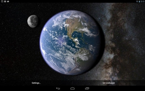 Earth And Moon In Gyro 3D