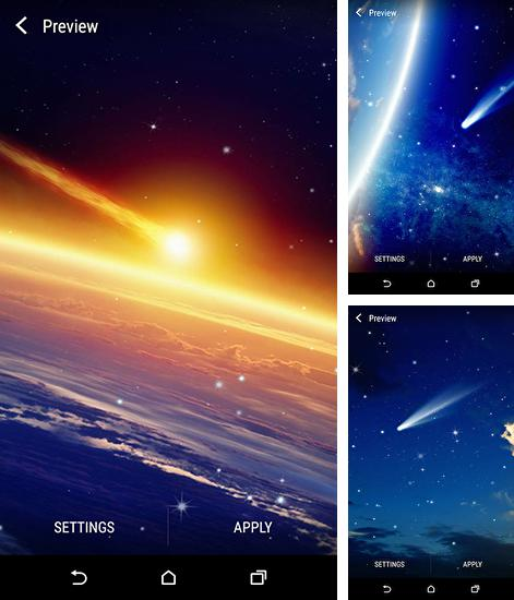 In addition to live wallpaper Garden by Cool Free Live Wallpapers for Android phones and tablets, you can also download Earth and space for free.