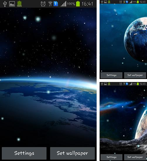 In addition to live wallpaper Beautiful spring flowers for Android phones and tablets, you can also download Earth from Moon for free.