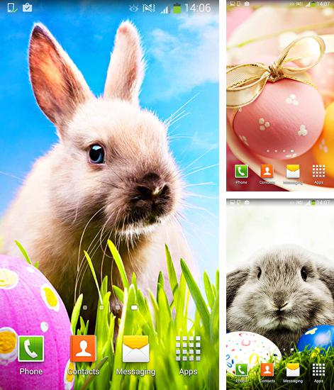 In addition to live wallpaper Pixel rain for Android phones and tablets, you can also download Easter for free.