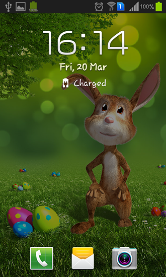 Screenshots of the Easter bunny for Android tablet, phone.