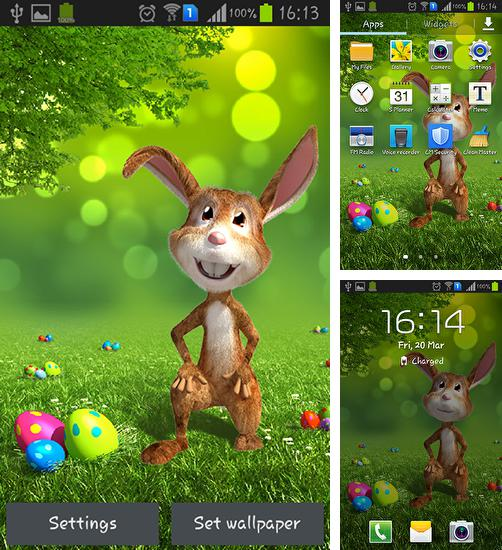 In addition to live wallpaper Live teddy bears for Android phones and tablets, you can also download Easter bunny for free.