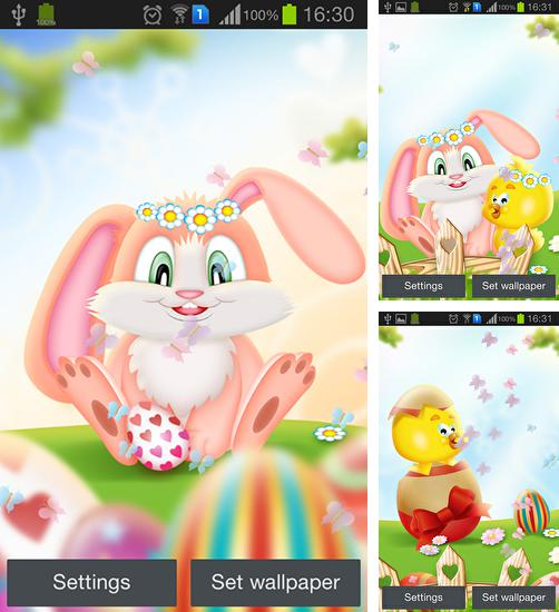 In addition to live wallpaper Love: Clock for Android phones and tablets, you can also download Easter by My cute apps for free.
