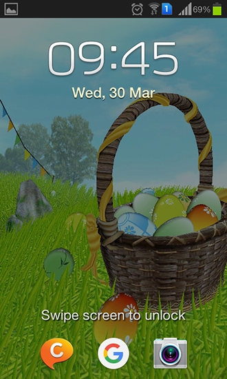 Screenshots of the Easter: Meadow for Android tablet, phone.