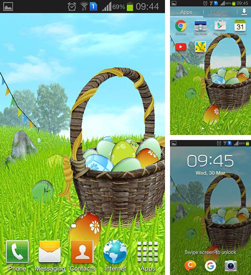 In addition to live wallpaper Neon lights for Android phones and tablets, you can also download Easter: Meadow for free.