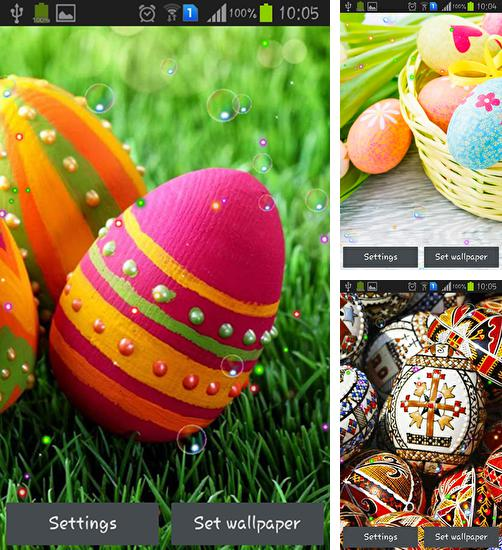 In addition to live wallpaper Plasticine town for Android phones and tablets, you can also download Easter orthodox 2015 for free.