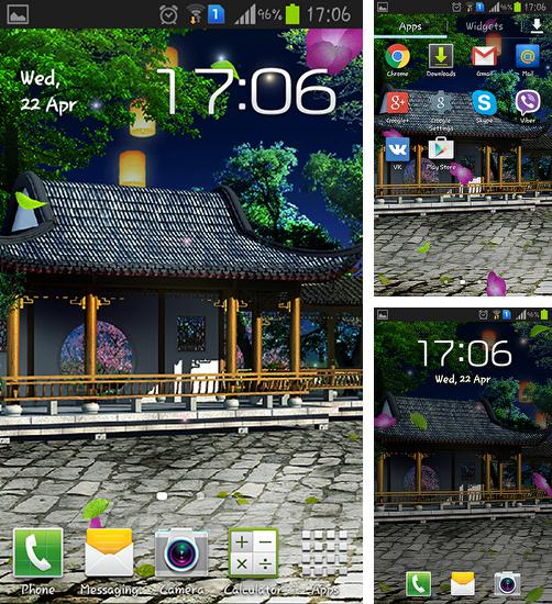 In addition to live wallpaper Winter snow for Android phones and tablets, you can also download Eastern garden for free.