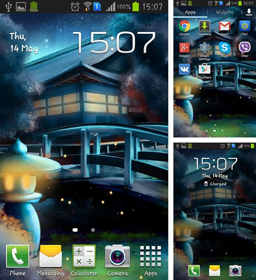 In addition to live wallpaper Mossy Forest for Android phones and tablets, you can also download Eastern glow for free.