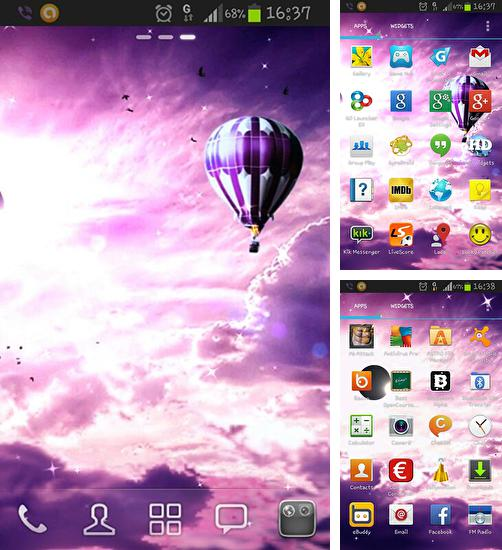 In addition to live wallpaper City rain for Android phones and tablets, you can also download Eclipse HD for free.