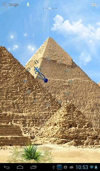 Screenshots of the Egyptian pyramids for Android tablet, phone.