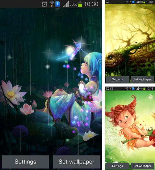 In addition to live wallpaper Mountain flower for Android phones and tablets, you can also download Elf world for free.