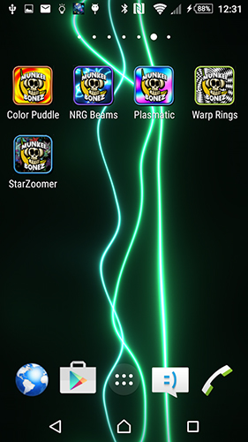 Screenshots of the Energy beams for Android tablet, phone.