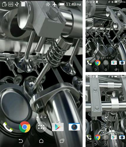 Kostenloses Android-Live Wallpaper Motor V8 3D. Vollversion der Android-apk-App Engine V8 3D für Tablets und Telefone.
