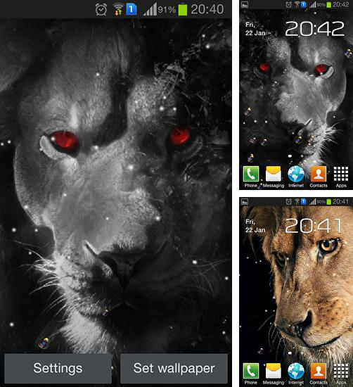 In addition to live wallpaper Autumn by minatodev for Android phones and tablets, you can also download Eyes lion for free.