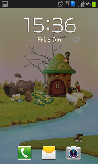 Screenshots of the Fairy house for Android tablet, phone.