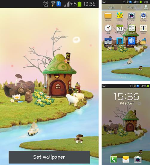 In addition to live wallpaper Winter snow for Android phones and tablets, you can also download Fairy house for free.