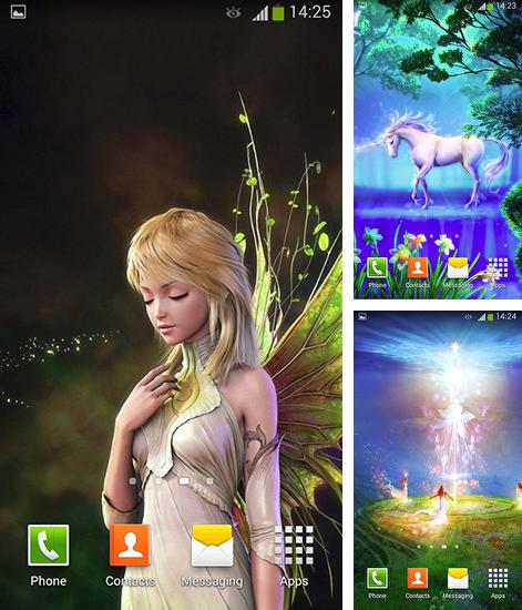 In addition to live wallpaper Frosty the kitten for Android phones and tablets, you can also download Fairy tale for free.