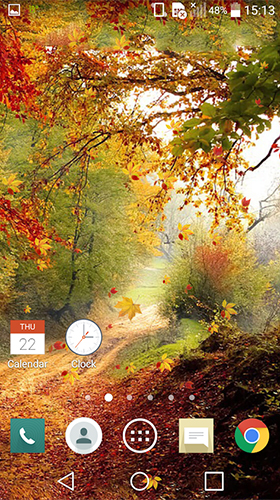 Falling leaves by Wallpapers and Backgrounds Live