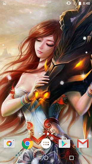 Screenshots of the Fantasy by Free wallpapers and backgrounds for Android tablet, phone.