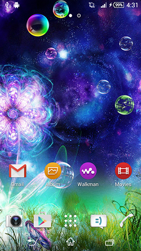 Screenshots of the Fantasy flowers for Android tablet, phone.