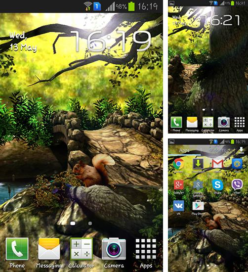 In addition to live wallpaper Husky for Android phones and tablets, you can also download Fantasy forest 3D for free.