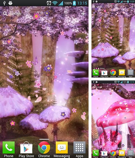 In addition to live wallpaper Illusion for Android phones and tablets, you can also download Fantasy sakura for free.