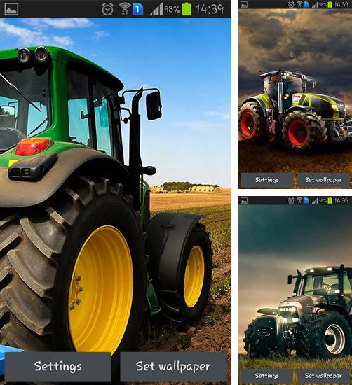 In addition to live wallpaper Dancing skeleton for Android phones and tablets, you can also download Farm tractor 3D for free.