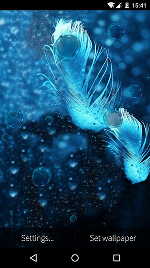 Download Feather: Bubble - livewallpaper for Android. Feather: Bubble apk - free download.