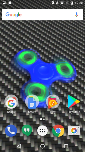 Screenshots of the Fidget Spinner for Android tablet, phone.